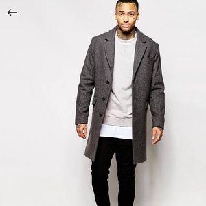 ASOS dark grey wool mix coats Sz XXS